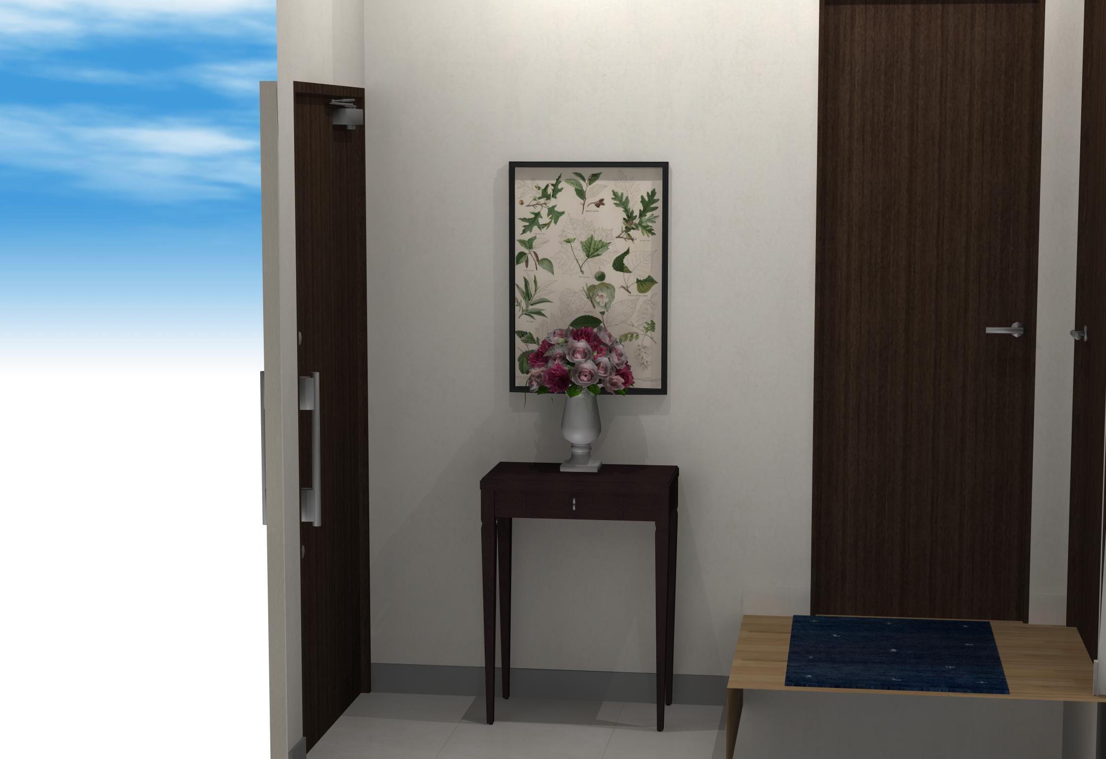 一人暮らし 玄関 インテリア コーディネート例