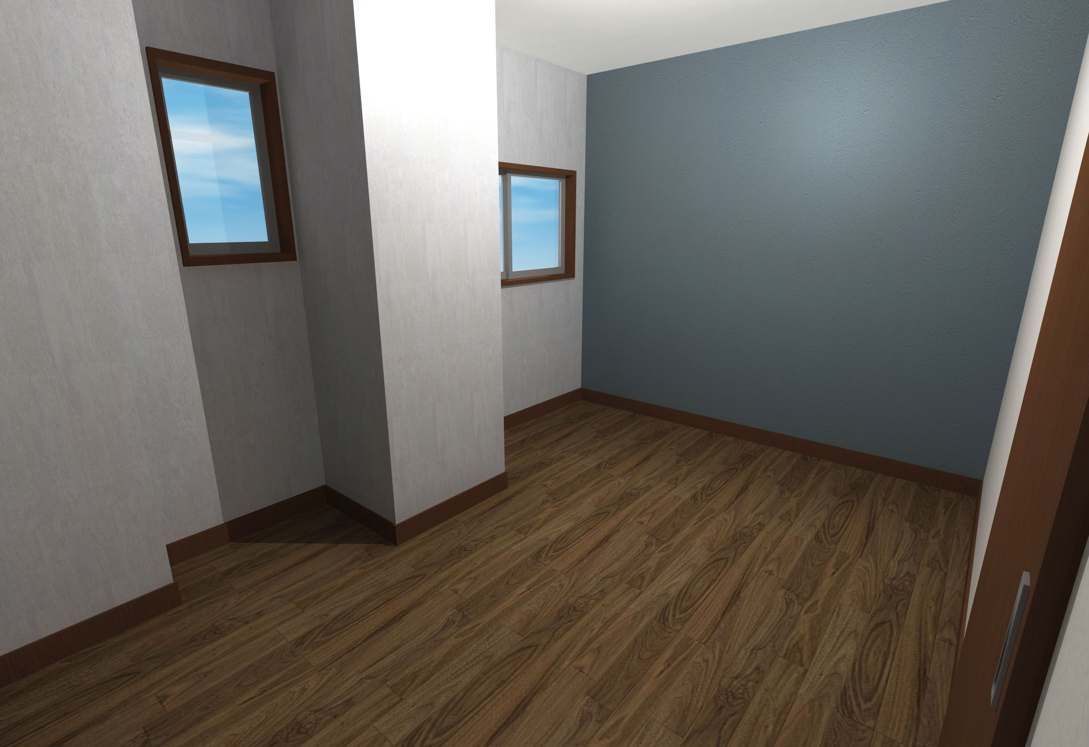 綺麗めモダンな内装壁紙寝室 Hello Interior ハローインテリア
